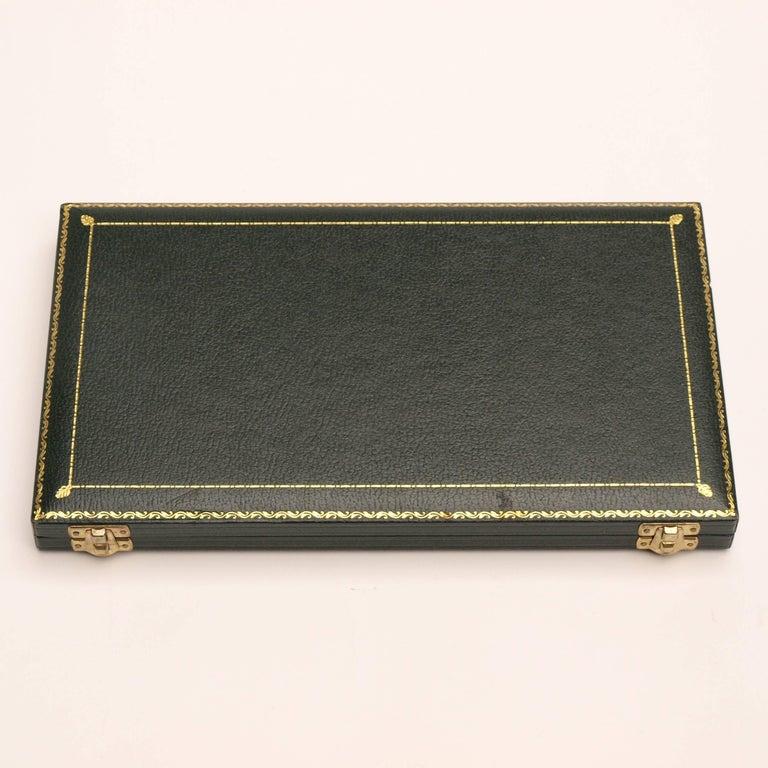 Mid-Century Modern Asprey & Co. 1970s Gold Desk Set For Sale