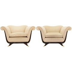 Pair of 1940s Armchairs Attributed to Guglielmo Ulrich