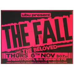 Fall Concert Poster, Signed by Mark E. Smith, 1986