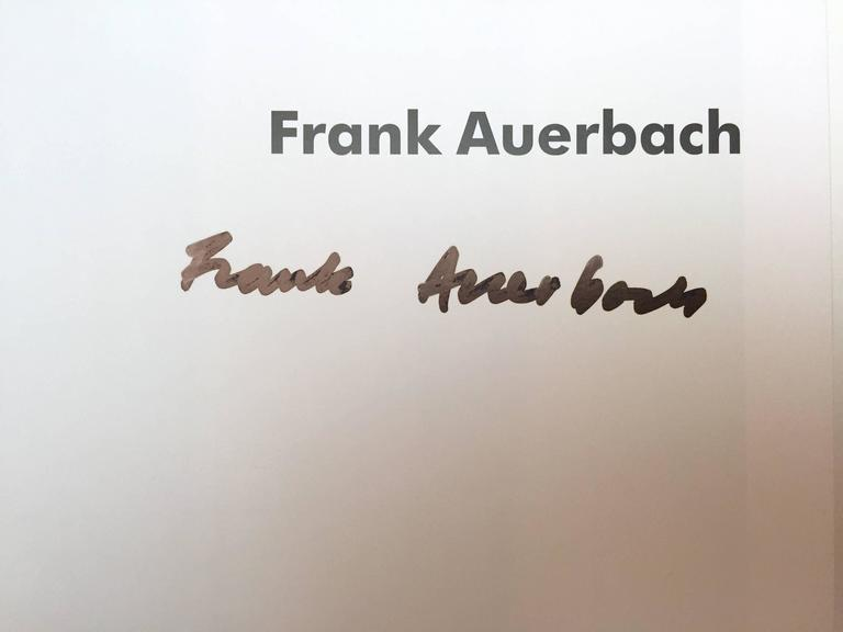 Published in 2009 by Rizzoli, New York. Signed by Auerbach  A comprehensive presentation of painter Frank Auerbach's work, featuring 200 color plates and 1,000 images many of which have never been reproduced. With a strikingly immediate painting