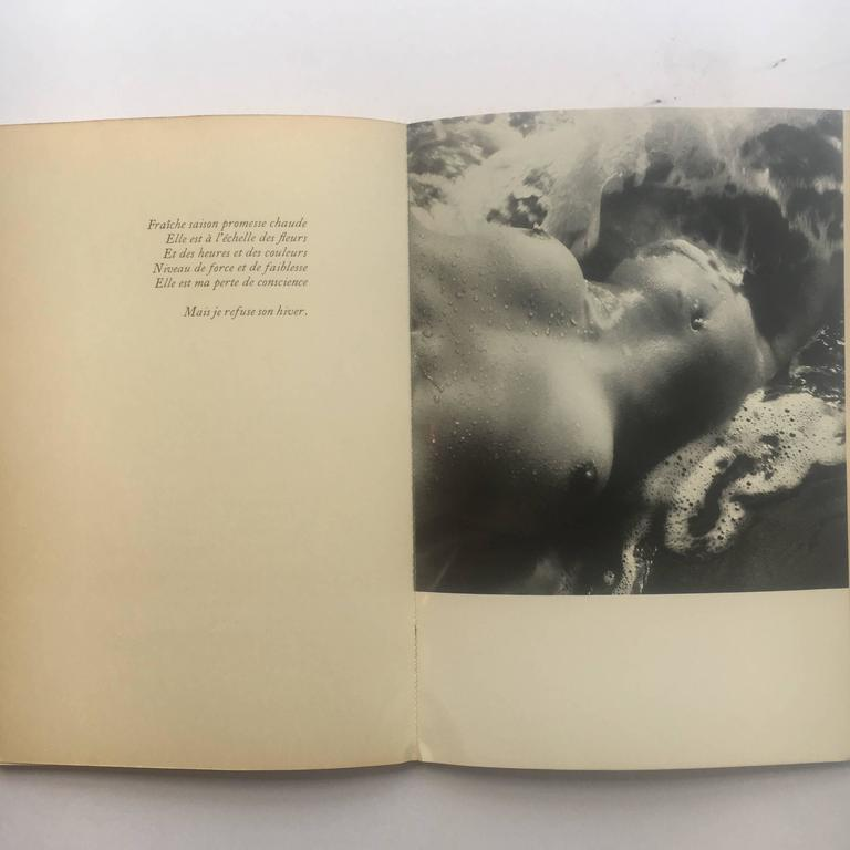 1st edition of Corps Memorable published in 1957 by Pierre Seghers, Paris with the front cover designed by Picasso  An incredibly important. This was the first book of nude photography that was allowed to be sold publicly in Paris. A remarkable