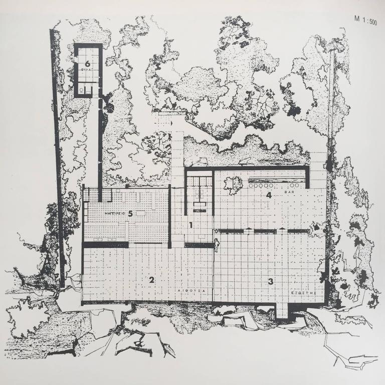 Restaurant Architecture and Design by Max Fengler, 1971 For Sale 4