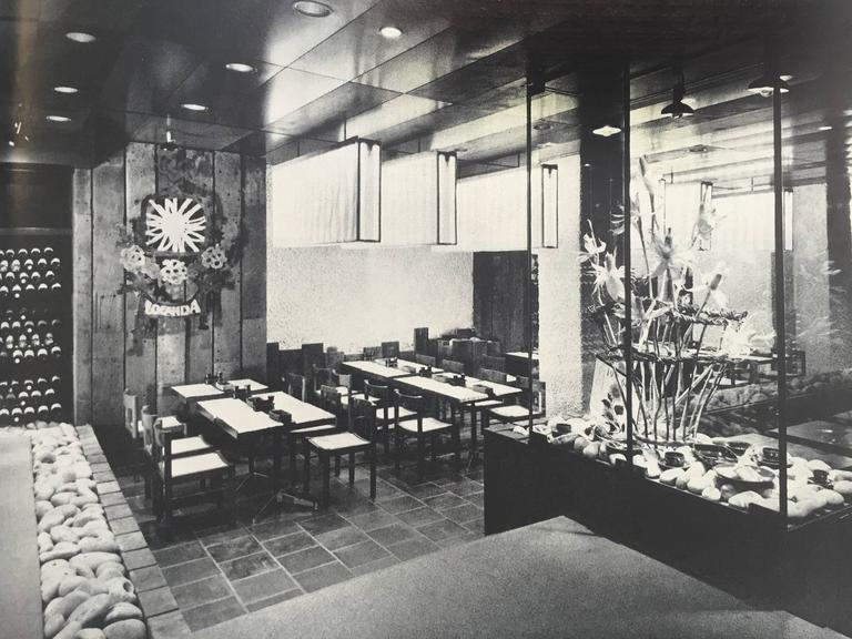 Restaurant Architecture and Design by Max Fengler, 1971 For Sale 1