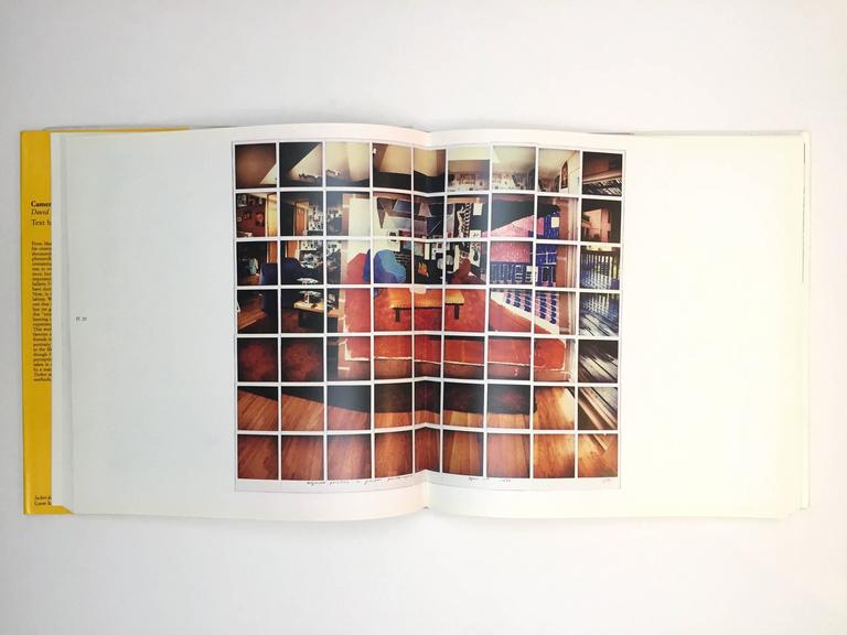 First edition, published by Alfred A. Knopf, 1984.  Cameraworks is a spectacular assemblage of David Hockney's photographic works. From the lively and intimate photo collages of friends and still-lifes, to the vast intricacy of the pools and