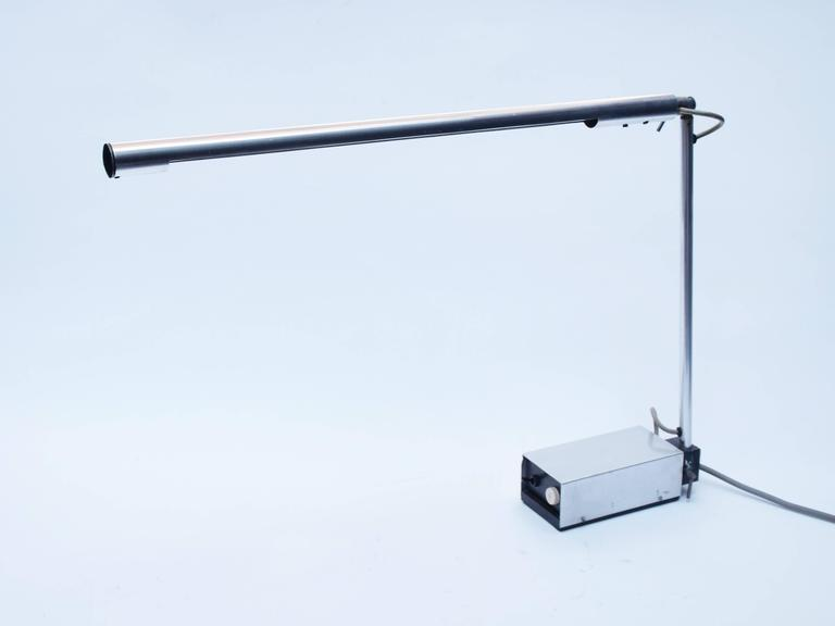 Aluminum Gerald Abramovitz Mkii Desk Lamp Manufactured In 1964 By Best Lloyd For