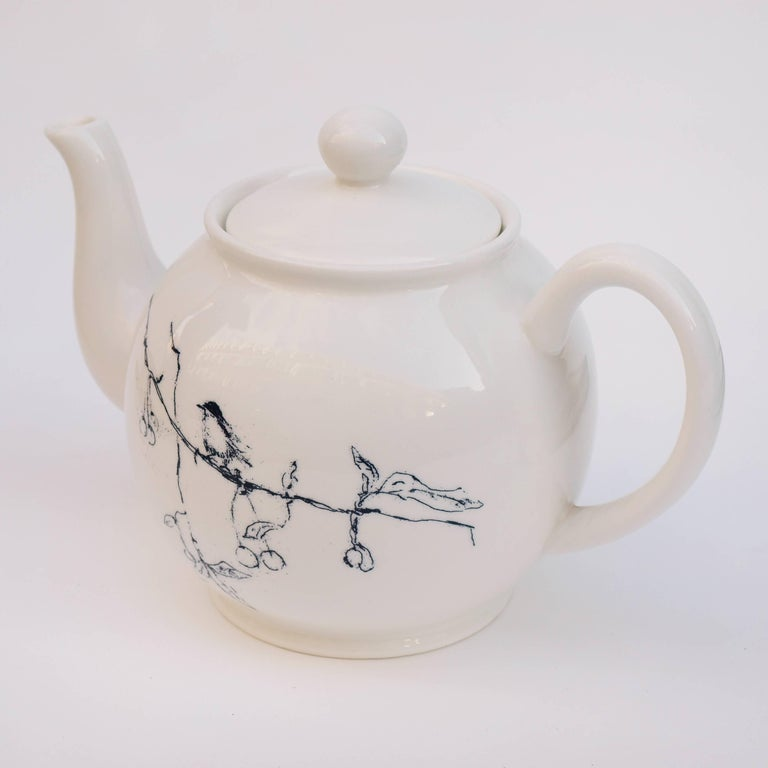 A Tracey Emin limited edition China teapot entitled 'Foundlings and Fledglings - Our Angels of this Earth' produced for Counter Editions and originally released to coincide with the Venice Biennale. Produced in an edition of 1000, this is number
