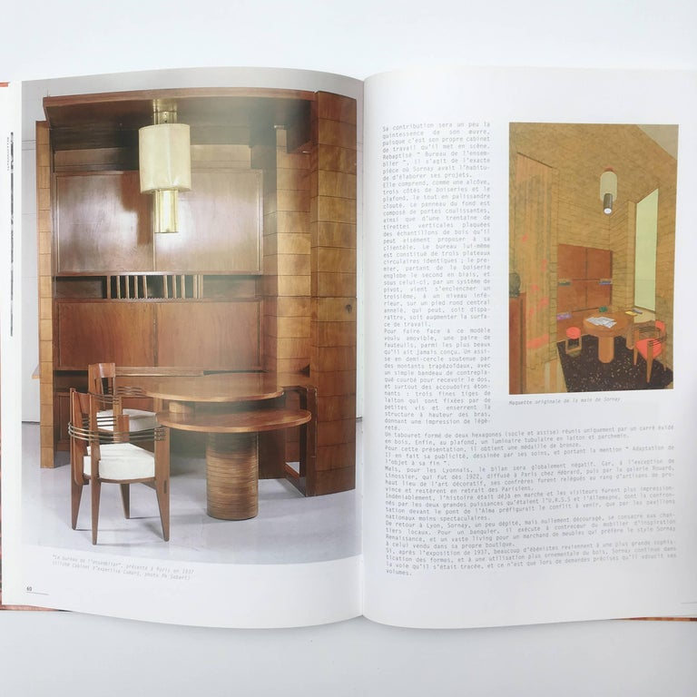 Hardback, first edition published by Éditions Beau Fixe, 2002  Text in French  A scarce monograph of the furniture of André Sornay, with copious images of his furniture and interiors, complimented by high quality reproductions of the designer's