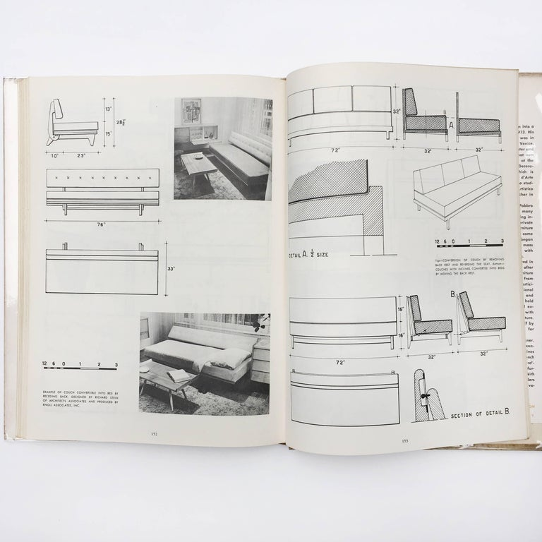 Mid-20th Century Modern Furniture, its Design and Construction by Mario Dal Fabbro, 1950 For Sale