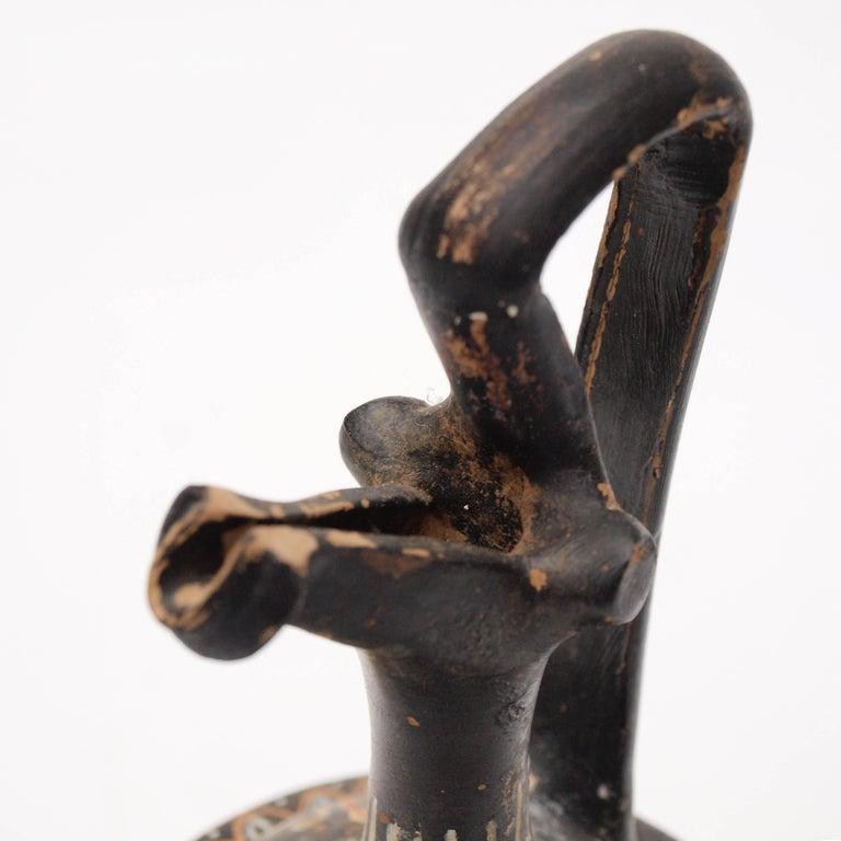 Terracotta Apulian Hand-Painted Epichysis 'Jug', circa 300-400 BC For Sale