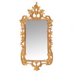A George II Style 19th Century Giltwood  Mirror