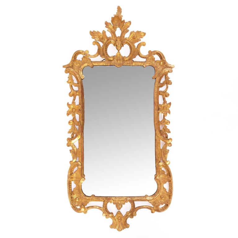 A George II Style 19th Century Giltwood  Mirror