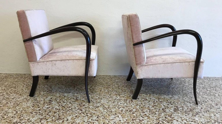 pair of art deco italian armchairs for sale at 1stdibs. Black Bedroom Furniture Sets. Home Design Ideas