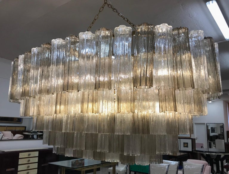 Art Deco Murano Glass Chandelier In Excellent Condition For Sale In Meda, MB