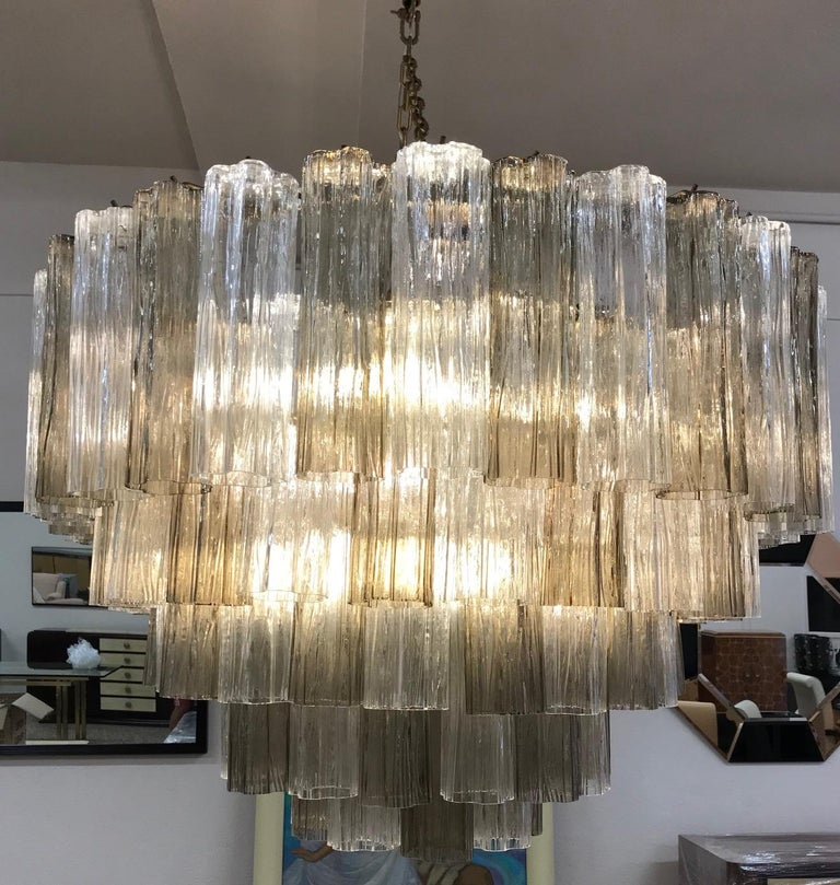 Contemporary Art Deco Murano Glass Chandelier For Sale