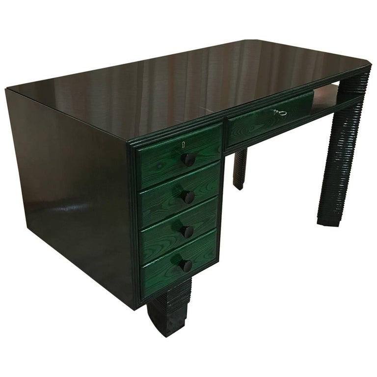 Exclusive 1930s Art Deco Desk, Italy For Sale