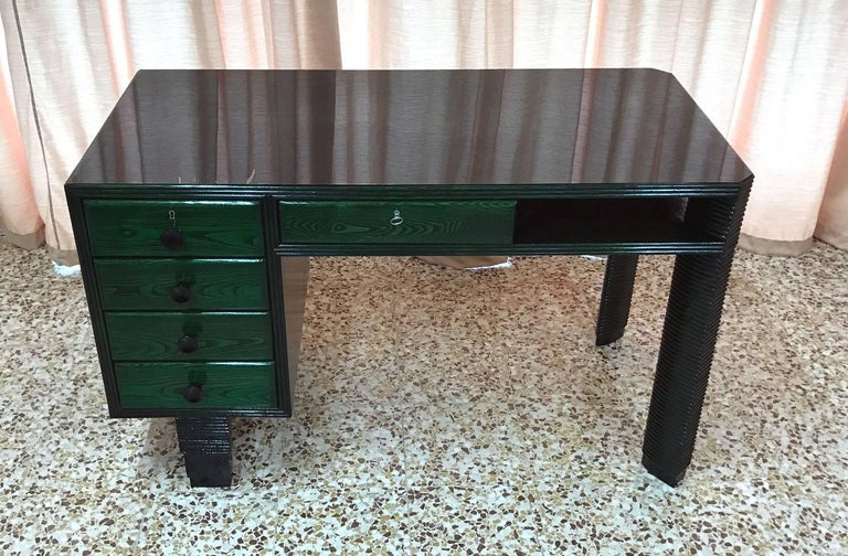 Exclusive 1930s Art Deco writing tables produced in Italy.