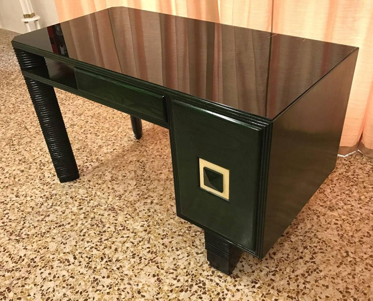 Italian Exclusive 1930s Art Deco Desk, Italy For Sale
