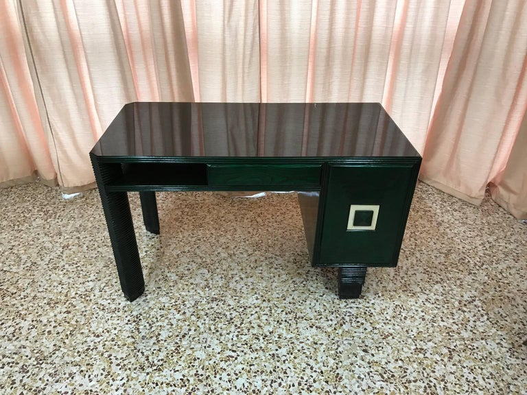 Exclusive 1930s Art Deco Desk, Italy In Good Condition For Sale In Meda, MB