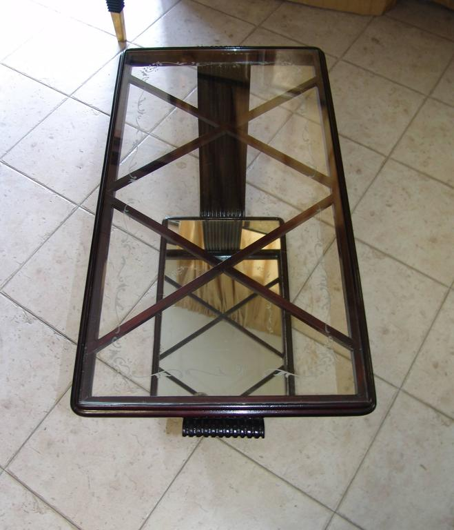 Art Deco 1940s Coffee Table Attributed to Osvaldo Borsani For Sale