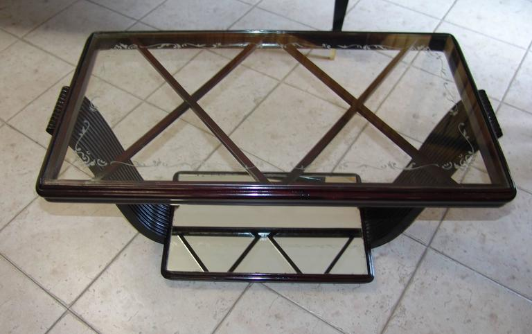 1940s Coffee Table Attributed to Osvaldo Borsani In Good Condition For Sale In Meda, IT