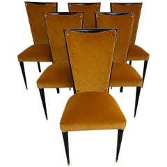 1950s Unusual Set of Six Chairs