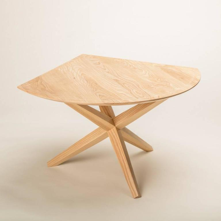 Mid-Century Modern Solid Ash Jack Base End Table For Sale