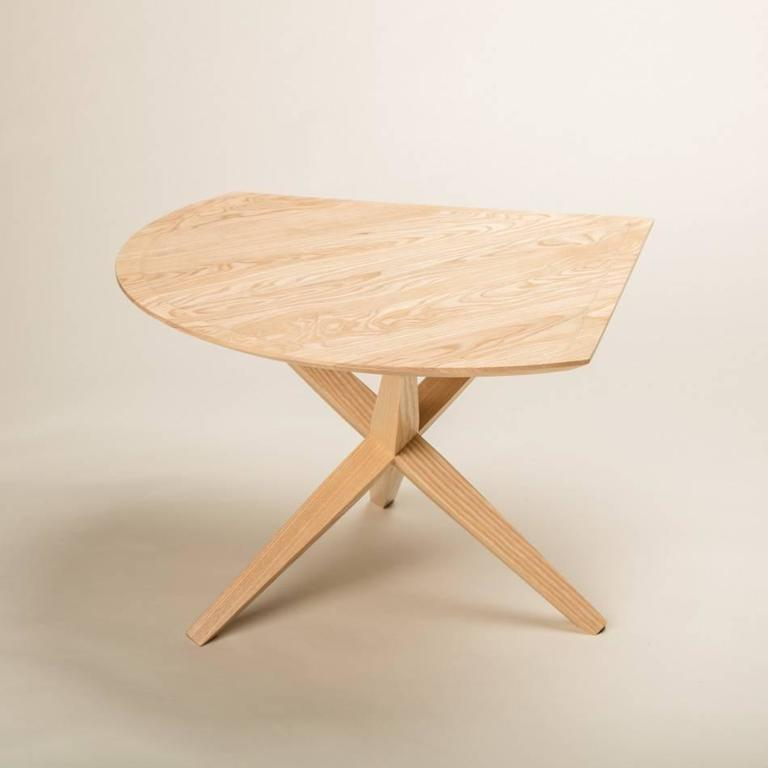 American Solid Ash Jack Base End Table For Sale