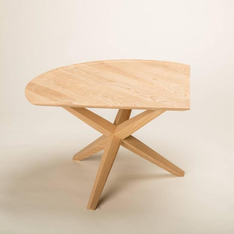 Contemporary Solid Ash Jack Base End Table For Sale