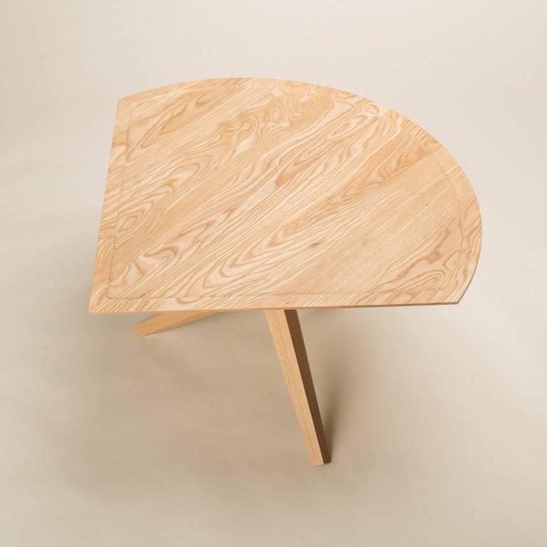 Solid Ash Jack Base End Table For Sale 1