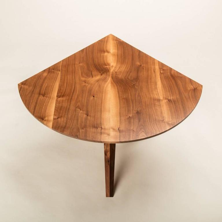 Solid Walnut Jack Base Corner Table For Sale 1