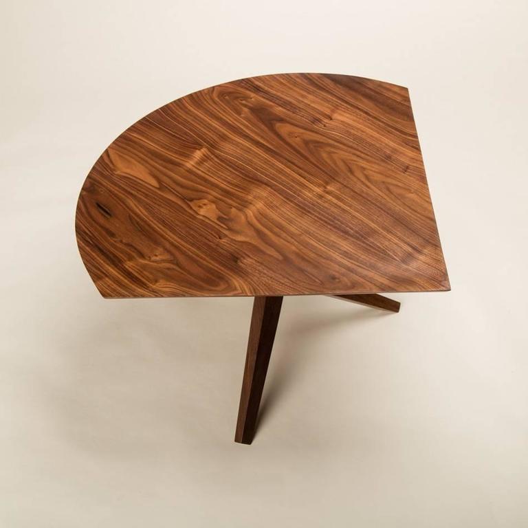 Solid Walnut Jack Base Corner Table For Sale 2
