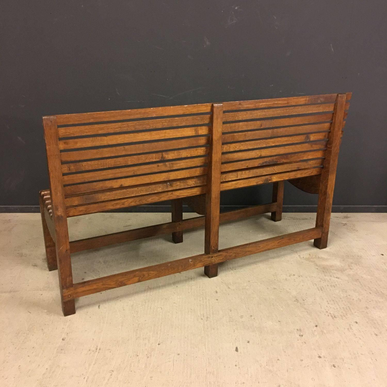 Amazing photo of Antique Oak Wooden Bus Bench at 1stdibs with #A76A24 color and 1500x1500 pixels