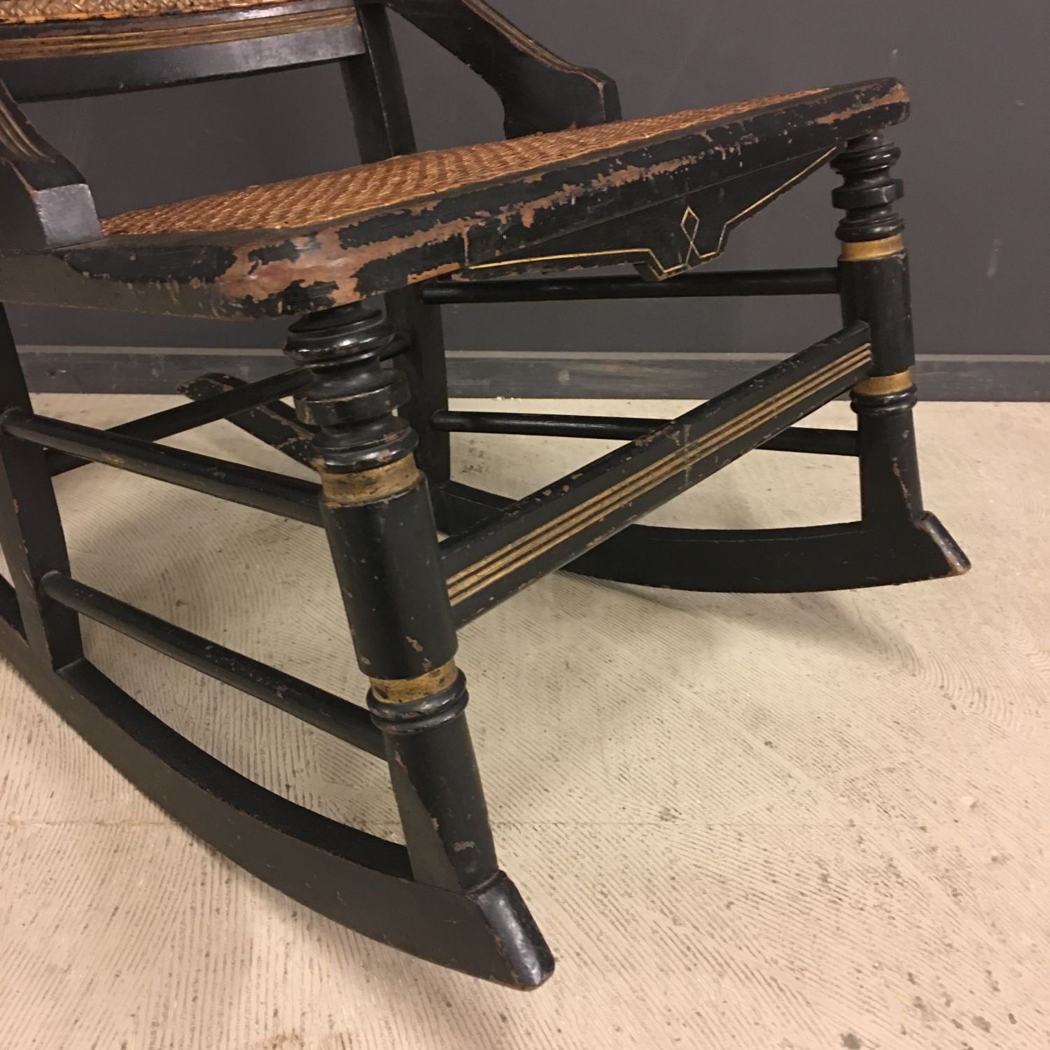 Antique French Napoleon III Rocking Chair, Circa 1850s For Sale At 1stdibs