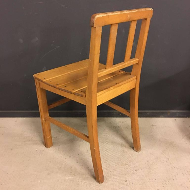 Vintage French Beechwooden Bistro Chairs Set Of 16 At 1stdibs
