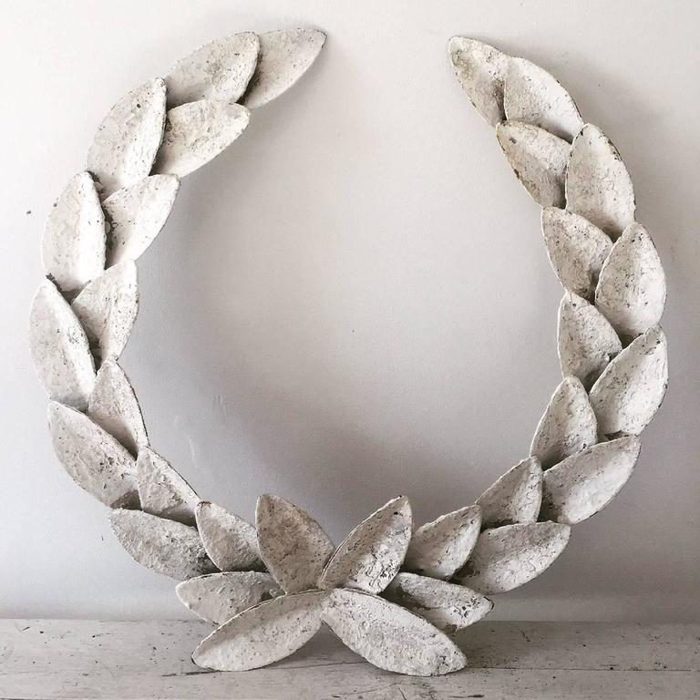 Large Decorative Metal Laurel Wreath At 1stdibs