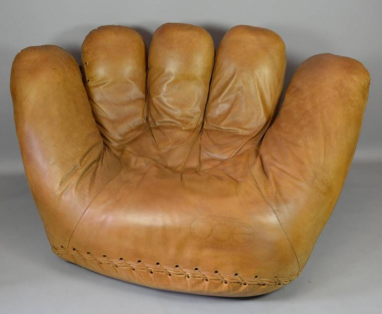 Delightful Joe Baseball Glove Lounge Chair At 1stdibs