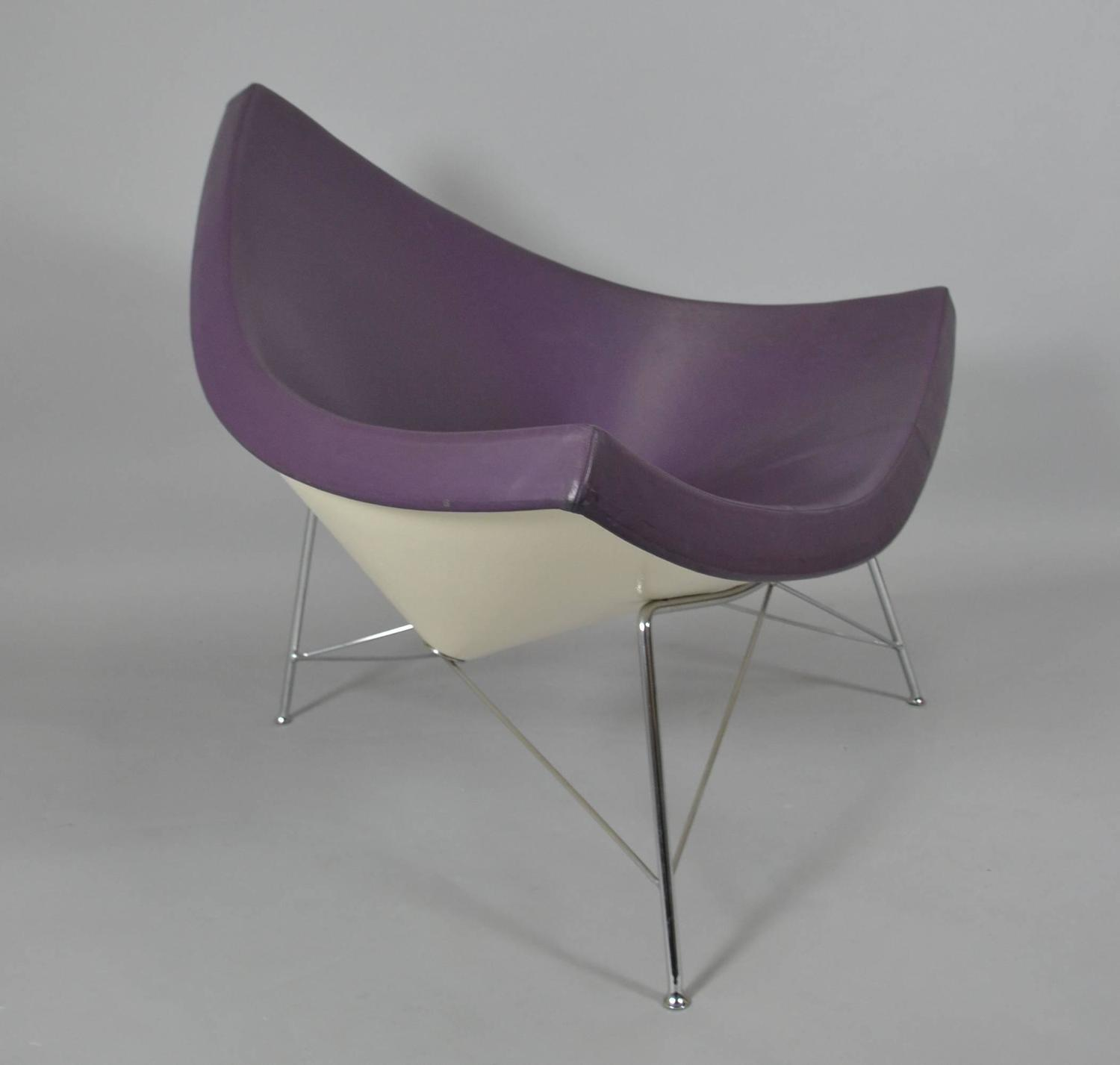 george nelson coconut chair in purple vitra production for sale at 1stdibs. Black Bedroom Furniture Sets. Home Design Ideas