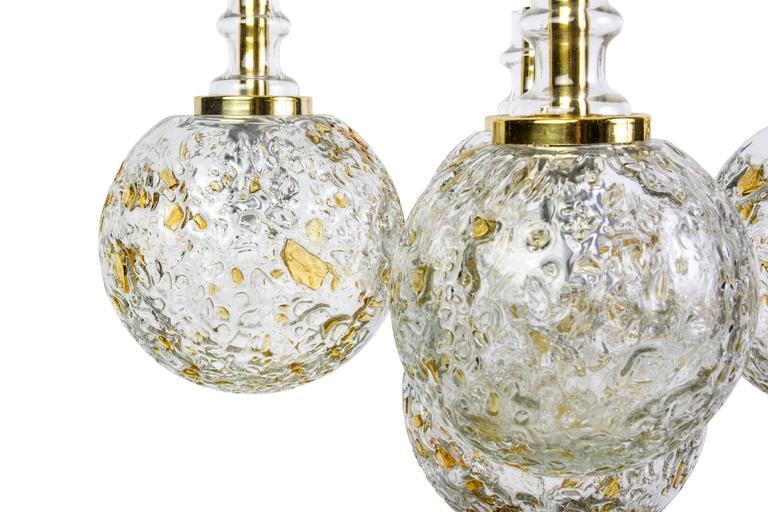 German Superb Glass Balls Ceiling Pendant by Doria For Sale