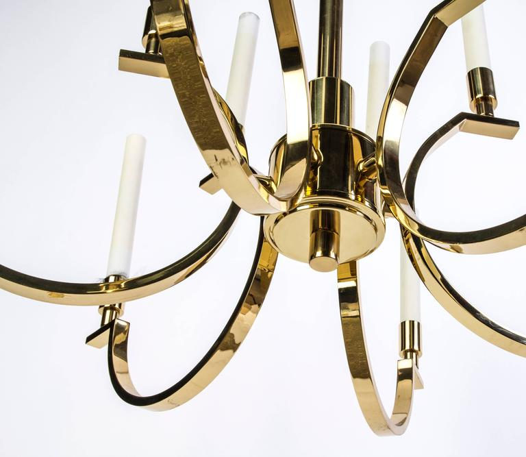American Exquisite Mid-Century Modernist Candelabra Chandelier by Frederick Cooper For Sale