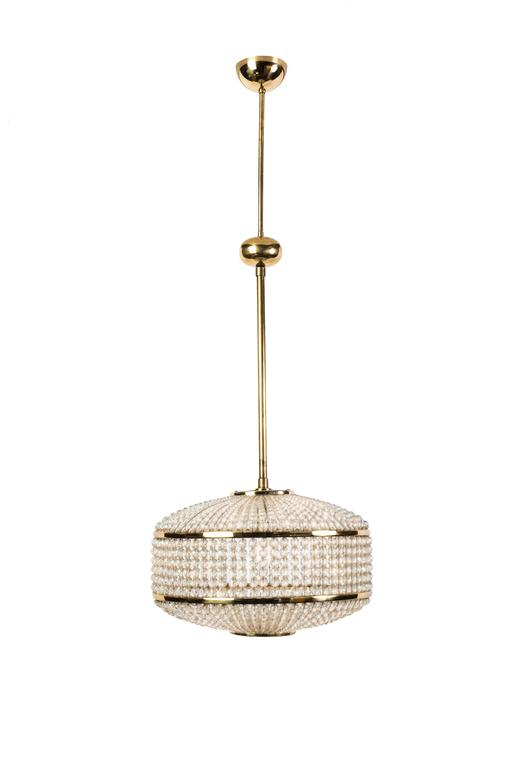 Exceptional Crystal Chandelier Pendant by Lobmeyr In Good Condition For Sale In Kingston, NY