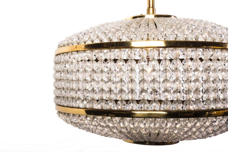 Austrian Exceptional Crystal Chandelier Pendant by Lobmeyr For Sale