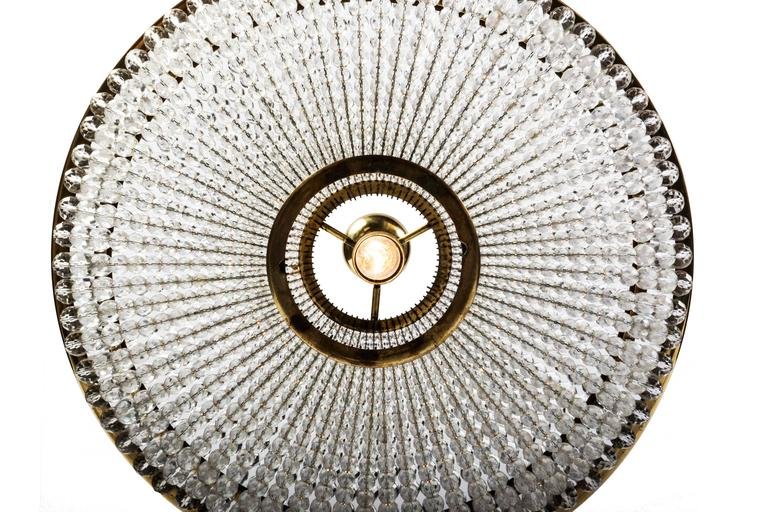 Mid-20th Century Exceptional Crystal Chandelier Pendant by Lobmeyr For Sale