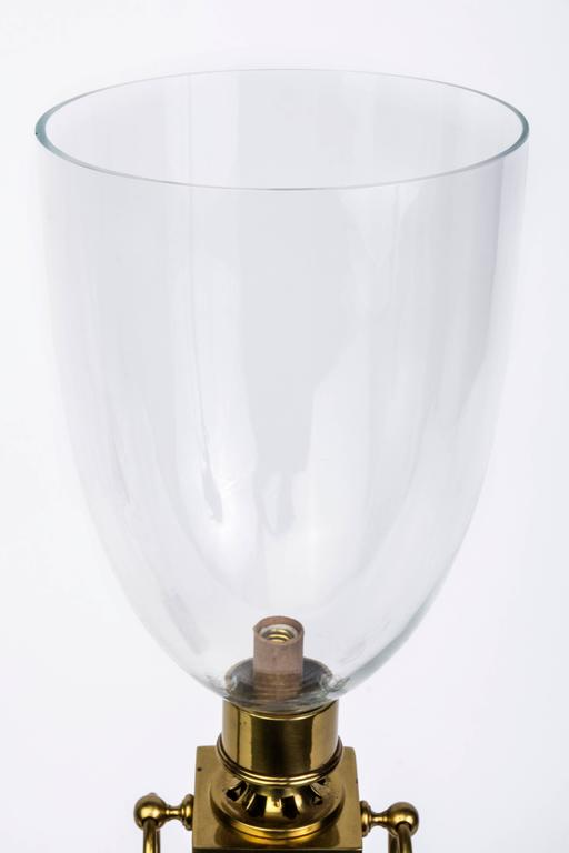 Pair Of Mid Century Modernist Hurricane Lamps Attributed To Tommi Parzinger For Sale At 1stdibs