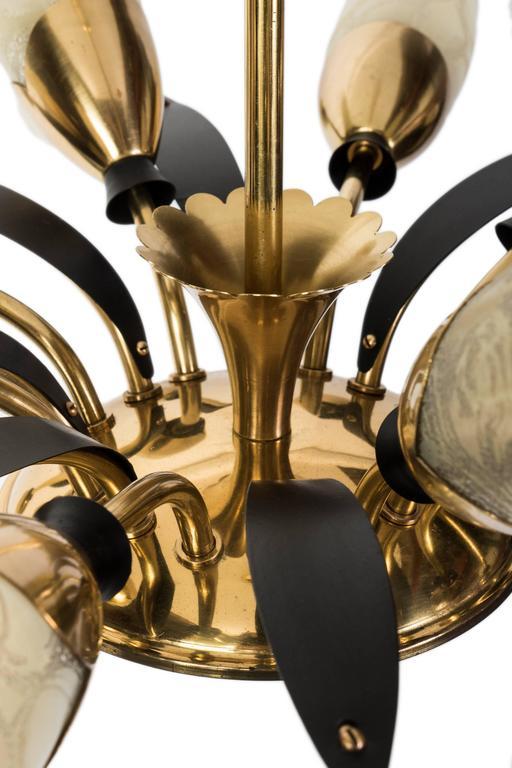 Brass Spectacular 1950s 16-Arm Austrian Sputnik Spider Chandelier For Sale