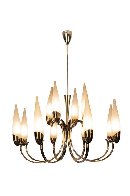 Wonderful 1950s italian candelabra chandelier in the manner of this wonderful 1950s italian chandeliers in the manner of stilnovo features a candelabra inspired design with aloadofball Gallery