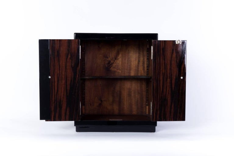 Chrome Captivating French Art Deco Bar Cabinet For Sale