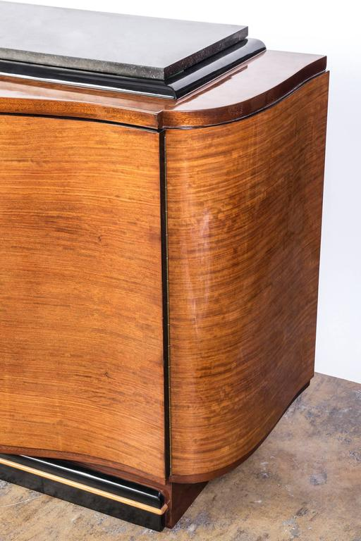 Grand French Art Deco Credenza or Buffet or Sideboard In Good Condition For Sale In Kingston, NY