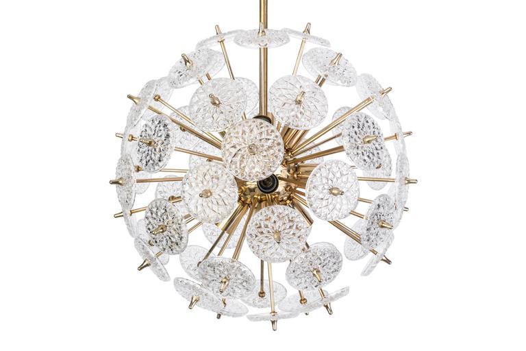 Floraler Sputnik von Val Saint Lambert Mid-Century Modern 2