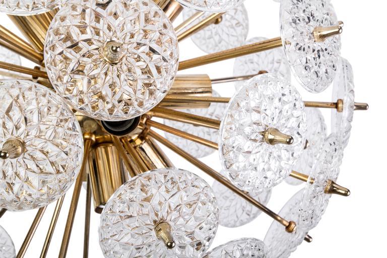 Floraler Sputnik von Val Saint Lambert Mid-Century Modern 5
