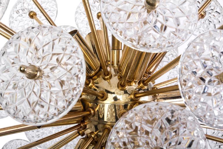 Floraler Sputnik von Val Saint Lambert Mid-Century Modern 3